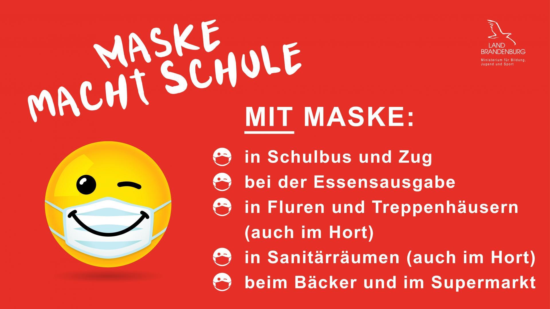 Maske macht Schule