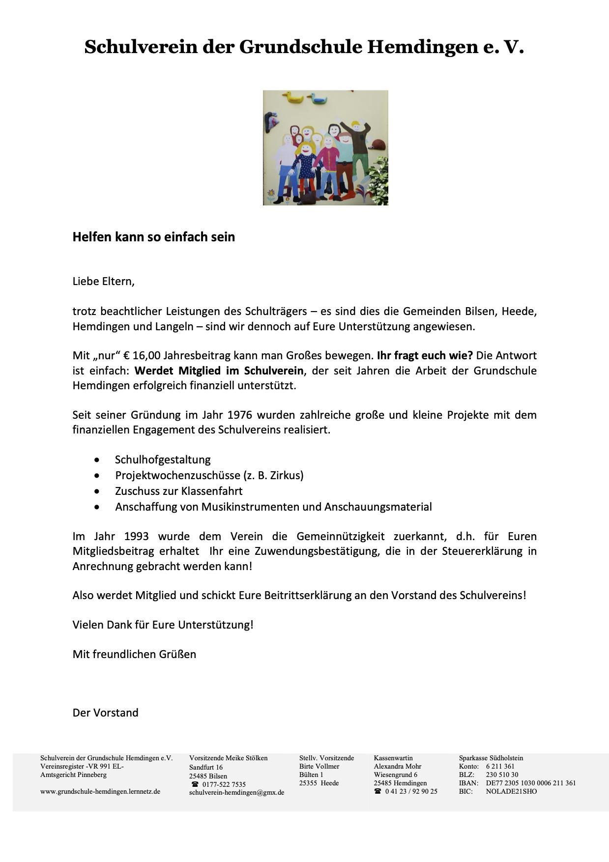 Flyer Schulverein