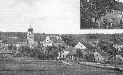 Ansichtspostkarte von Wald (1945)