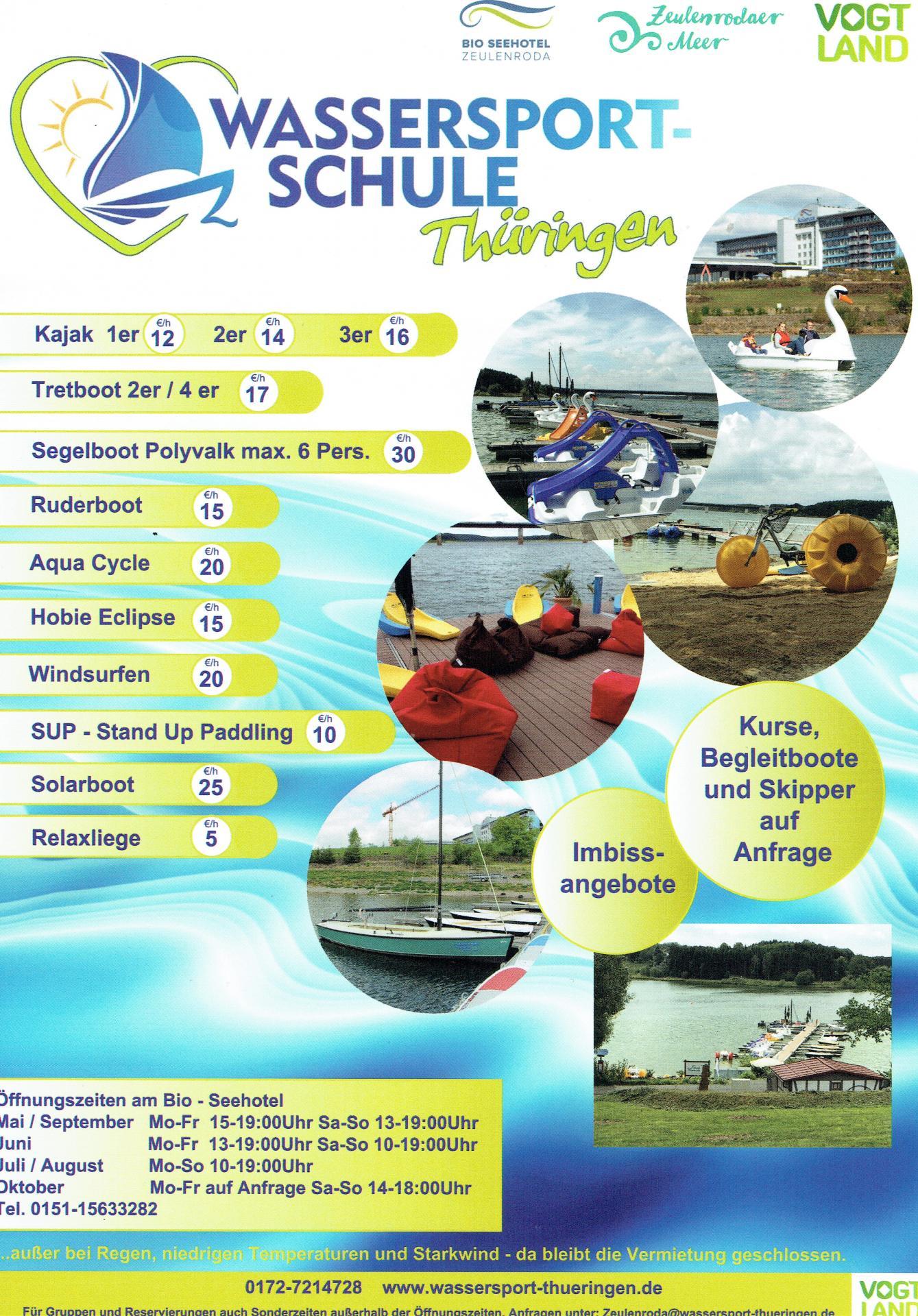 Wassersportschule Thüringen