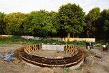 Bau der Ringfundaments für die Kapelle