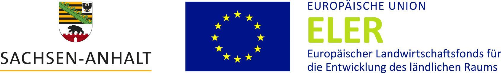 Signet-Paar mit Landessignet, Unionslogo und ESIF-Logo