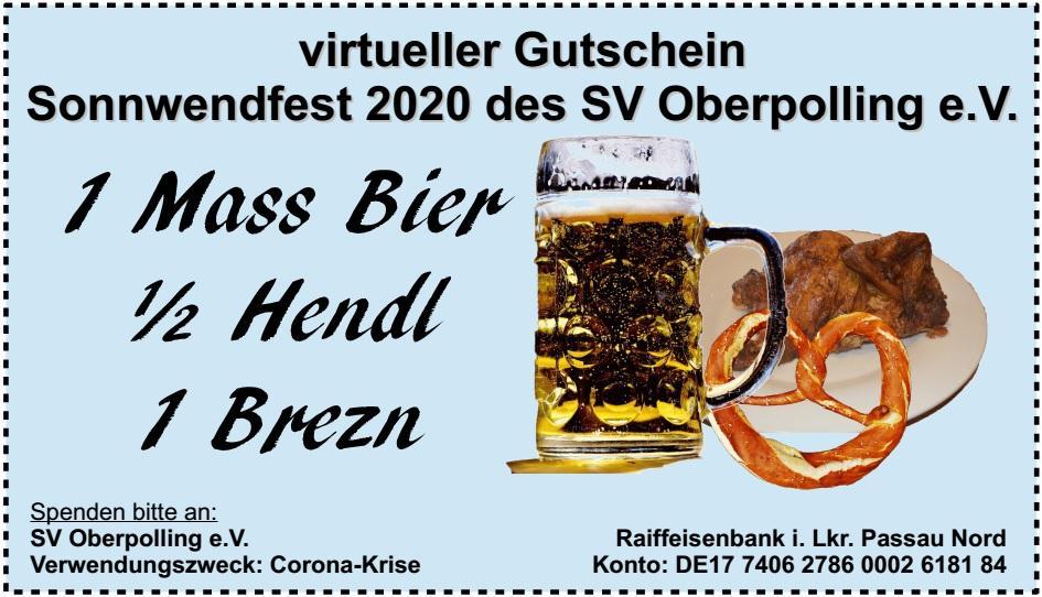 virtueller Gutschein Spende Sonnwendfest 2020