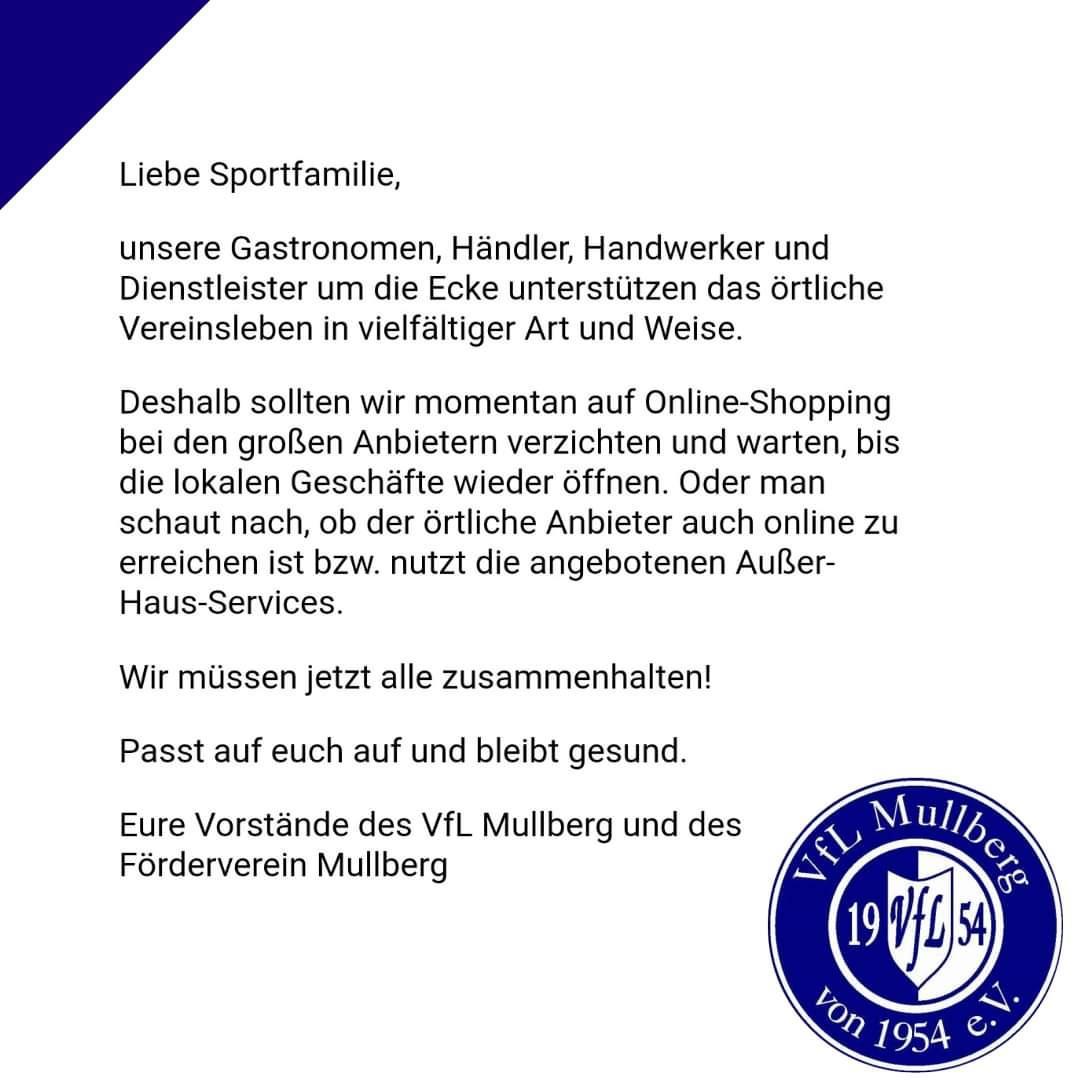 Unterstützt lokale Händler!