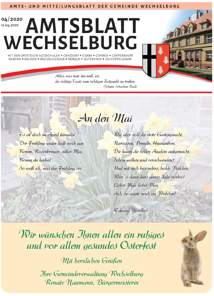 Amtsblatt April