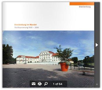 Broschüre: Oranienburg im Wandel