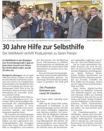 Bietigheimer Zeitung vom 6.12.2012