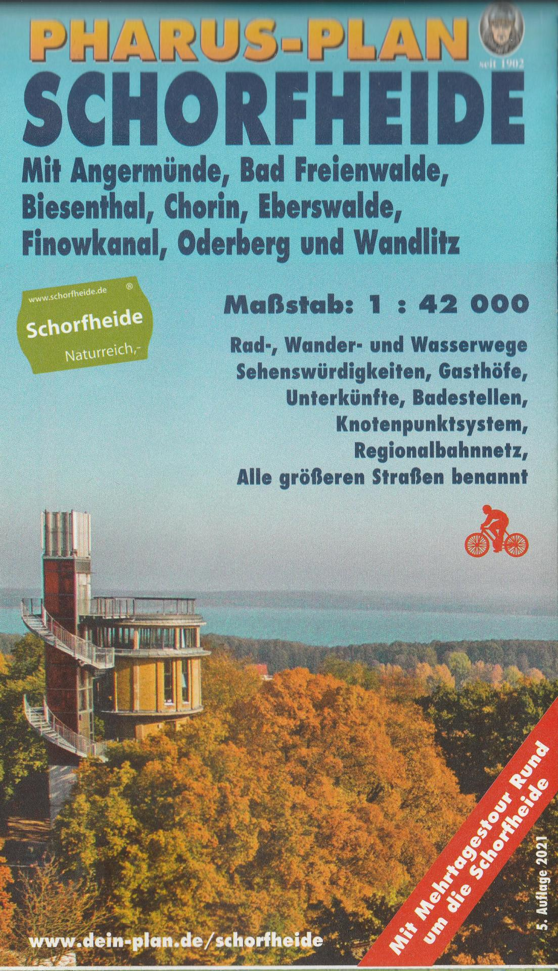 Pharus-Plan Schorfheide 5. Auflage 2021