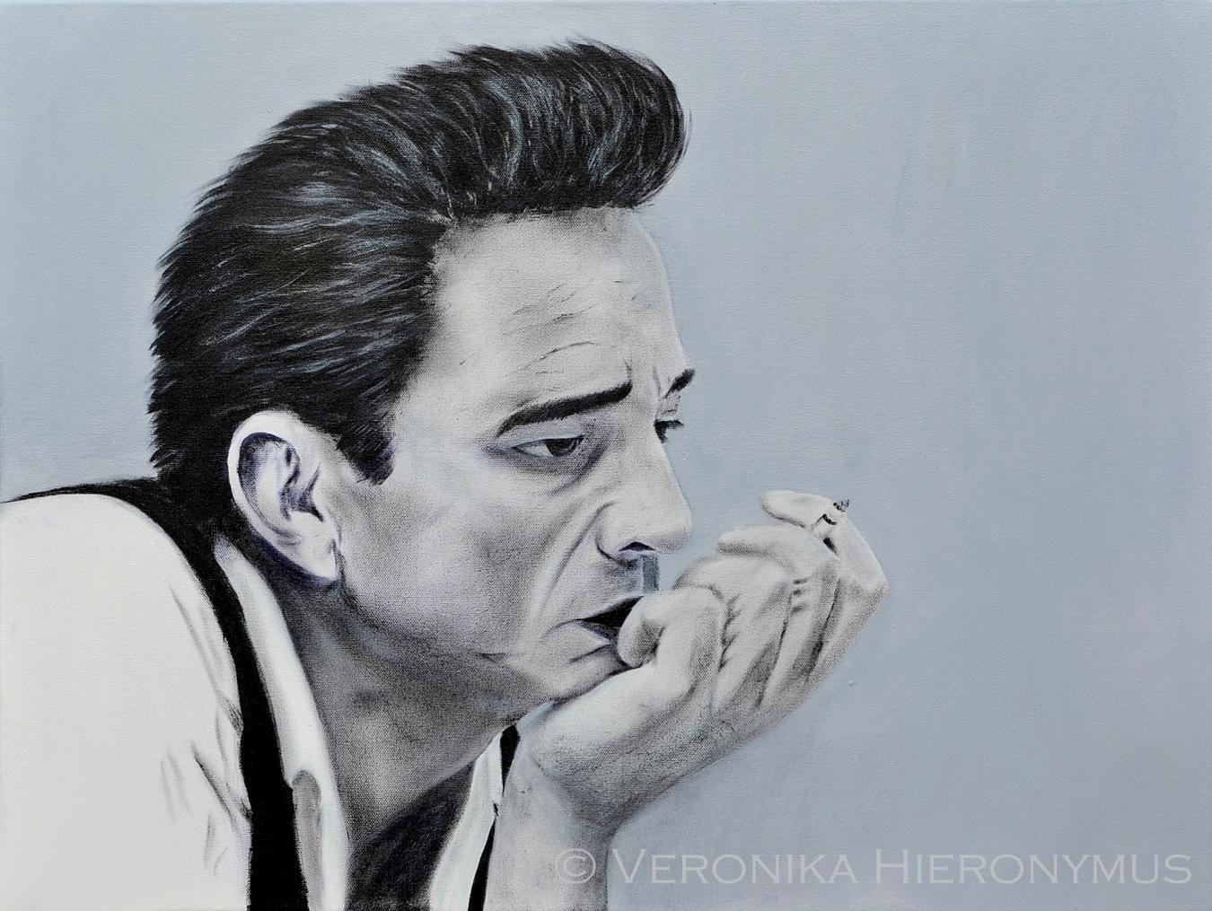 Johnny Cash Acryl 80 x 60