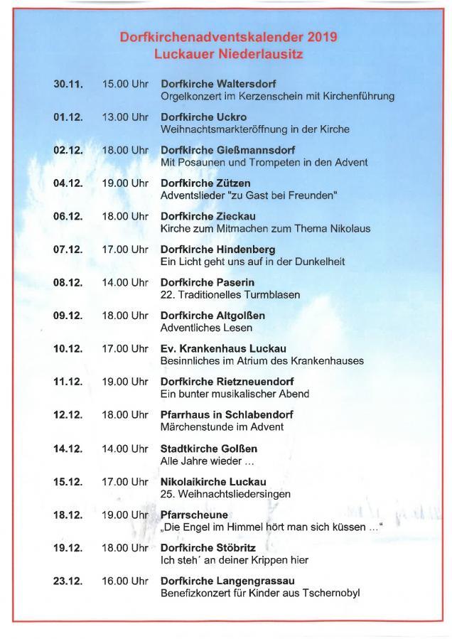 Dorfkirchenadventskalender 2019