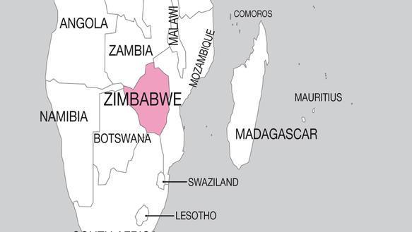 Zimbabwe_Landkarte
