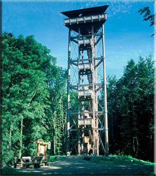 Vulcano-Infoplattform  auf der Steineberger Ley