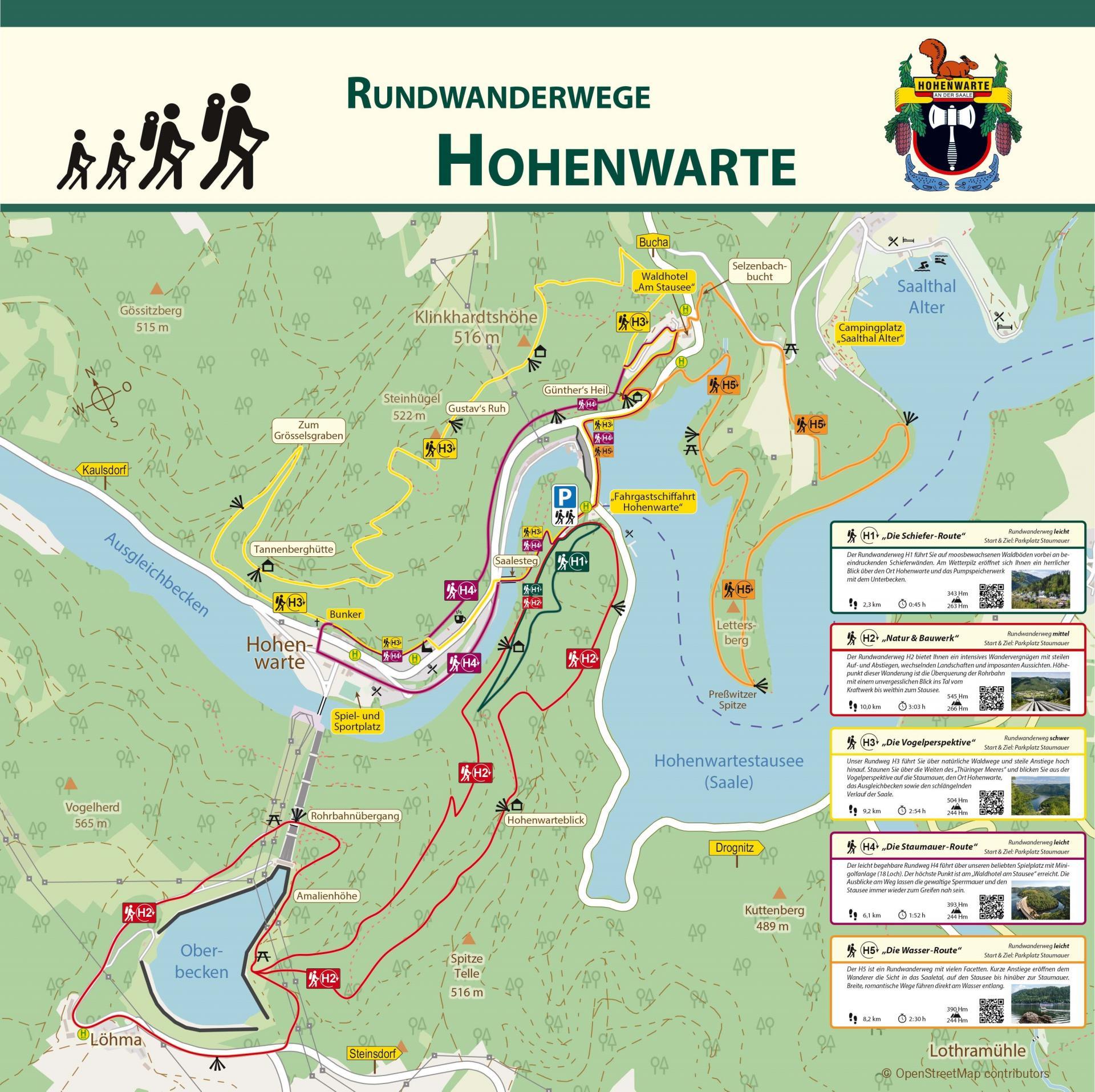 Wandertafel Hohenwarte