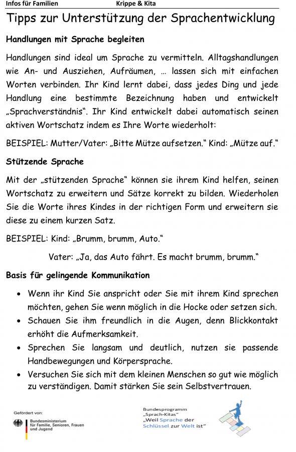 Sprachkita Info Eltern Krip-Kit