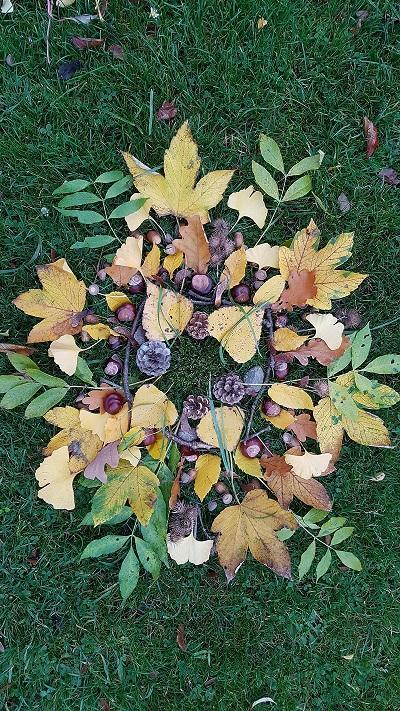 Corona Herbst Wald-Mandala