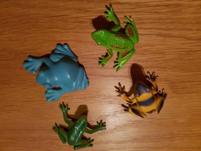 Frosch hüpfen