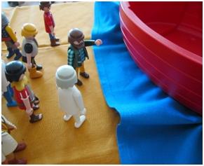 Petrus leiht Jesus sein Boot