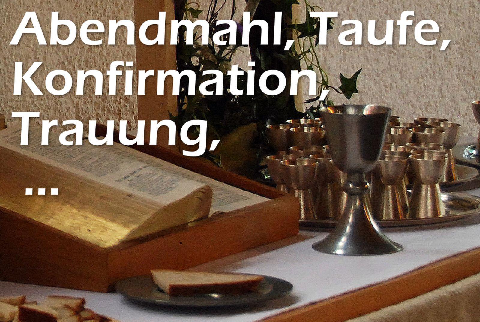 AbendmahlTaufeKonfirmation