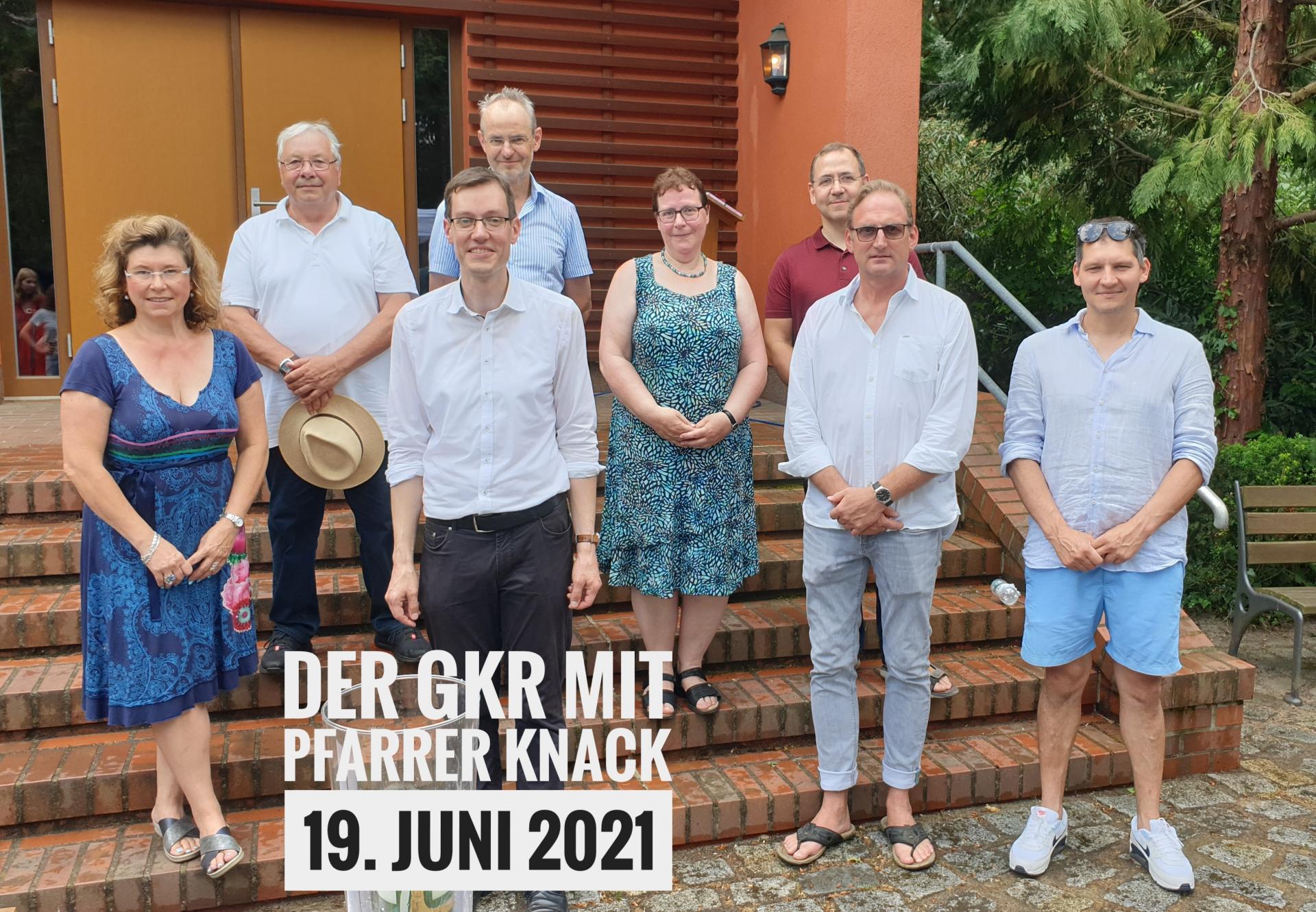 Der GKR mit Pfarrer Knack