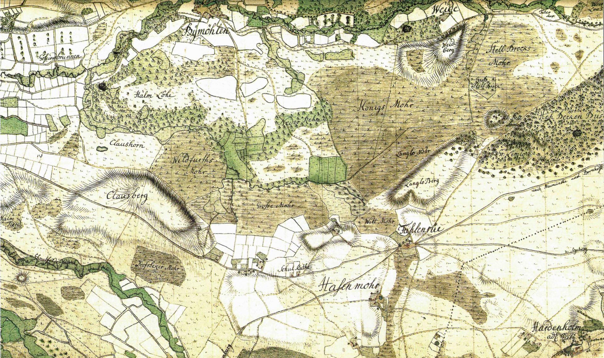 Topographische Karte (um 1793)