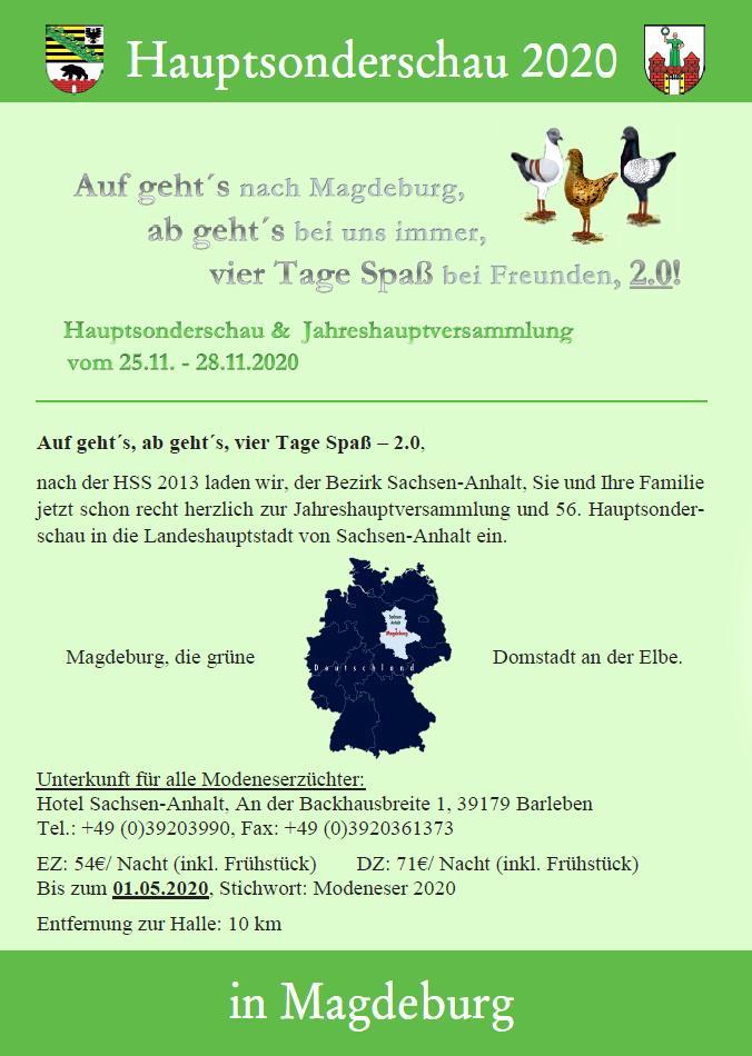 Flyer HSS 2020 Magdeburg