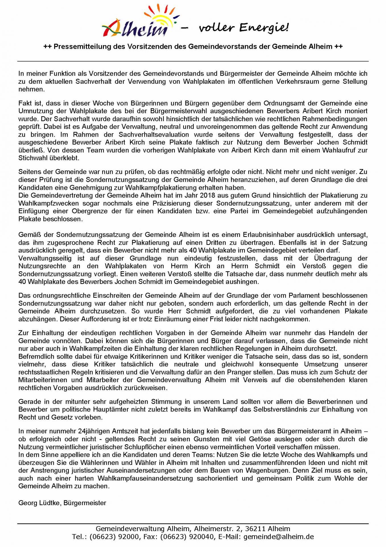 Pressemitteilung BGM Lüdtke