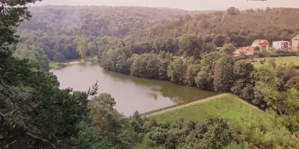 Blick von der Alteburg (Burgstandort) auf den Osterteich