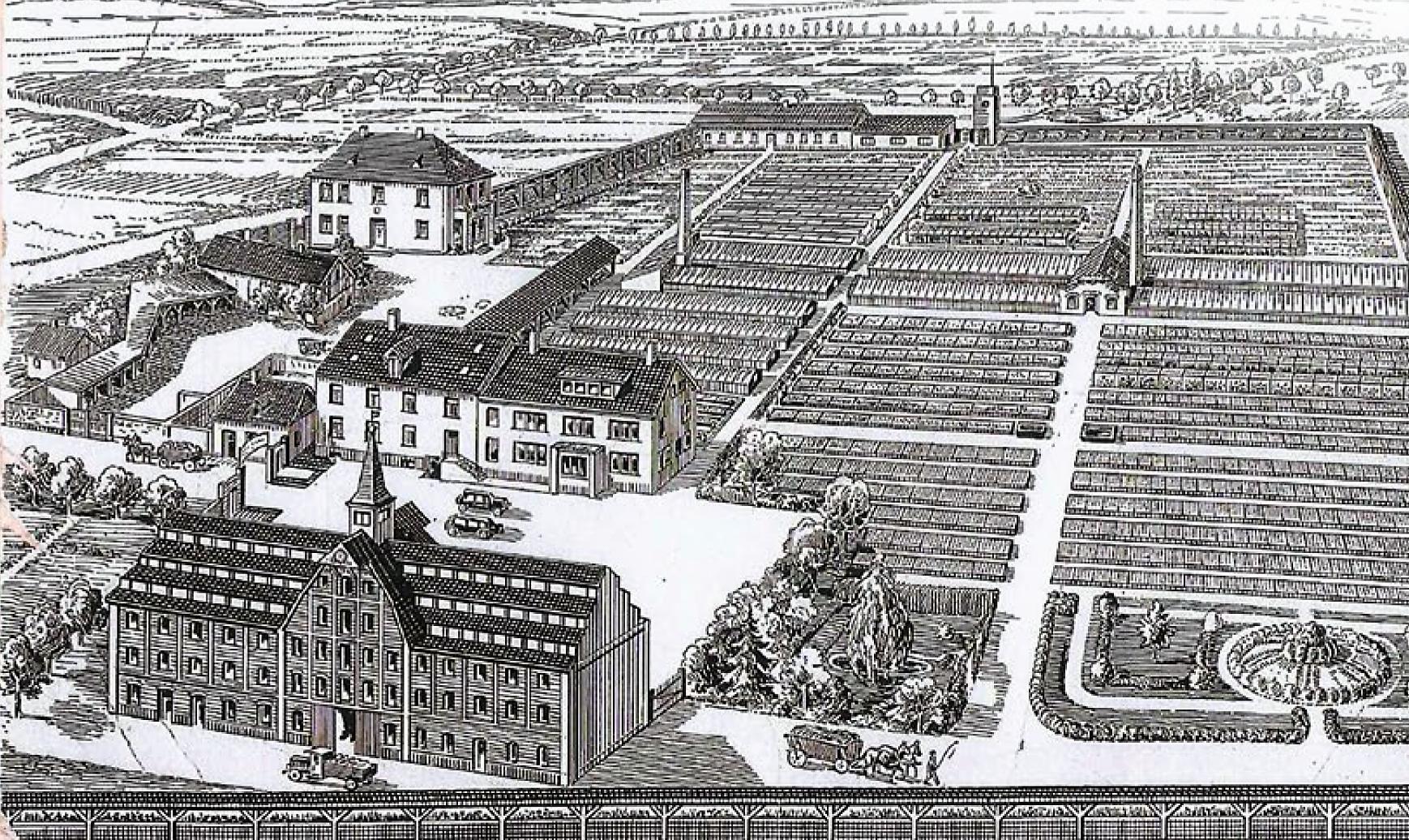 Firmengelände der Firma Hesse und Sohn in Rieder 1925