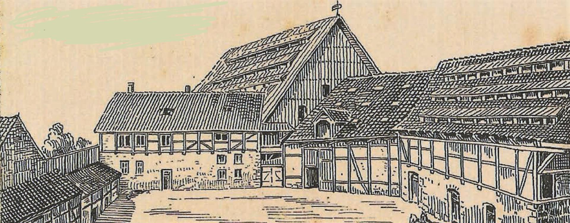 Erbhof Hesse aus einem Lageplan  von 1925