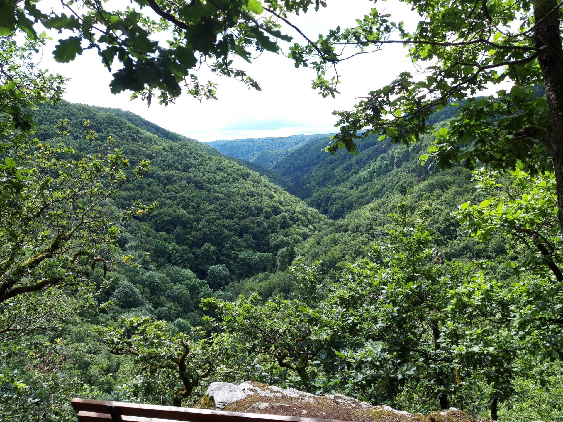 Aussichtspunkt an dem Wanderweg zum Wasserfall