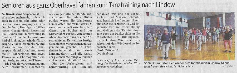 Artikel Oranienburger Generalanzeiger