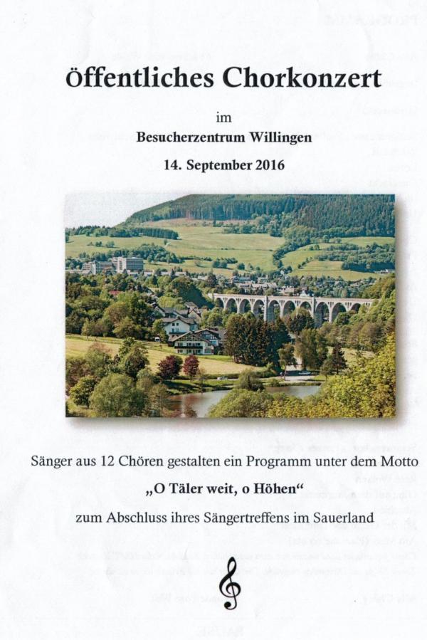 Chortreffen Willingen 2016 - Fleyer