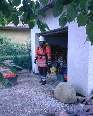 Garagenbrand in Lauenstein