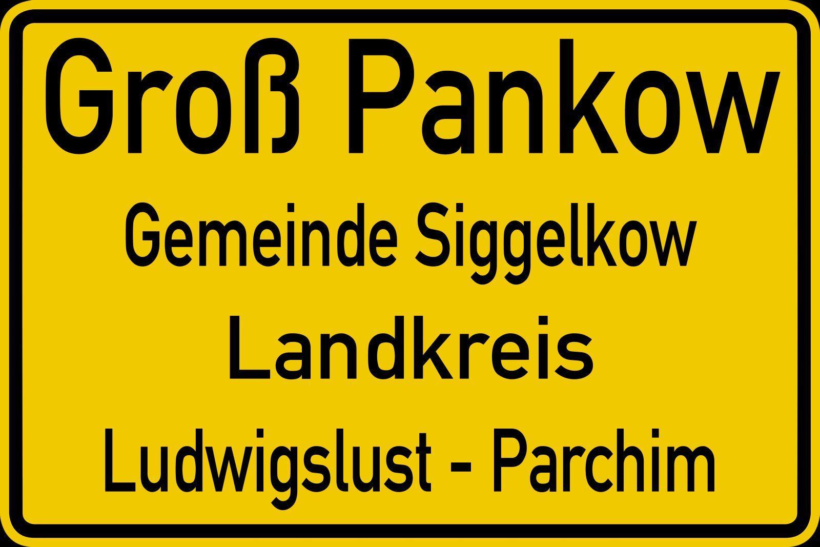 Ortsschild Groß Pankow