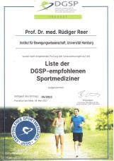 Liste der DGSP-empfohlenen Sportmedizinier