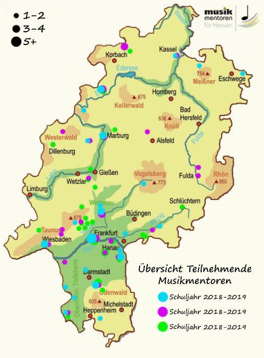 Karte regionale Verteilung