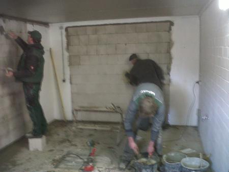 Umbau der Wache, Maurerarbeiten