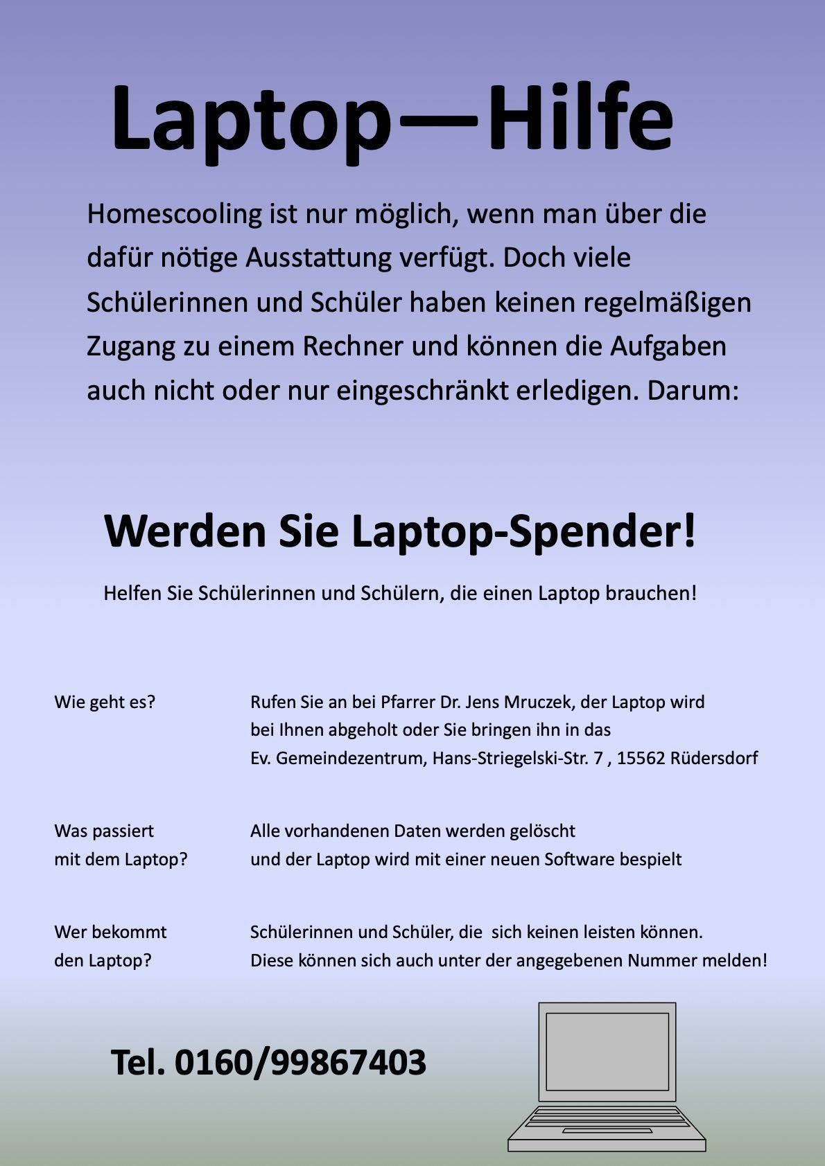 Laptop-Spende