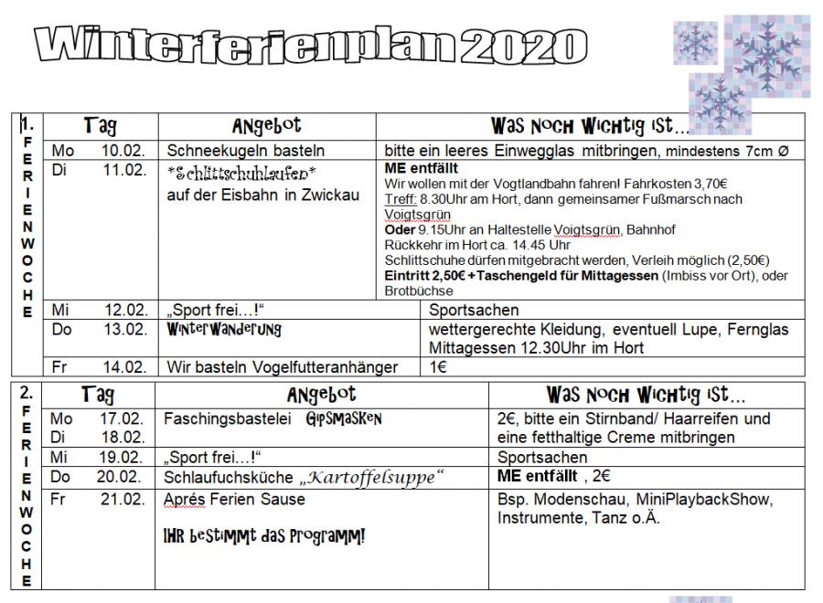 Winterferien 2020