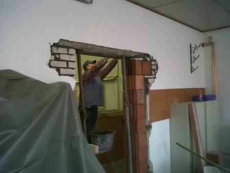 2011 Umbau Wache, Maurerarbeiten 8