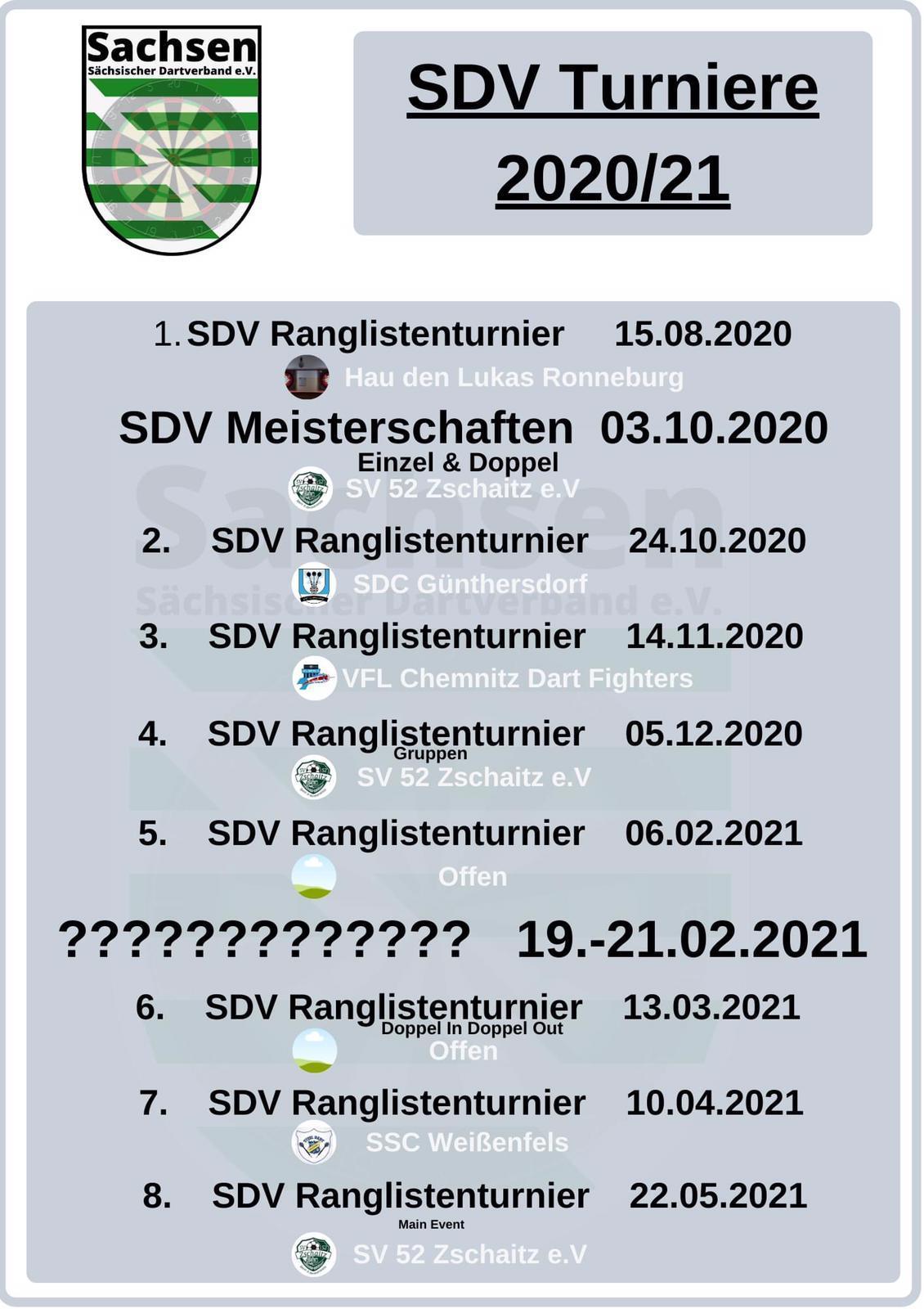 Terminplan SDV