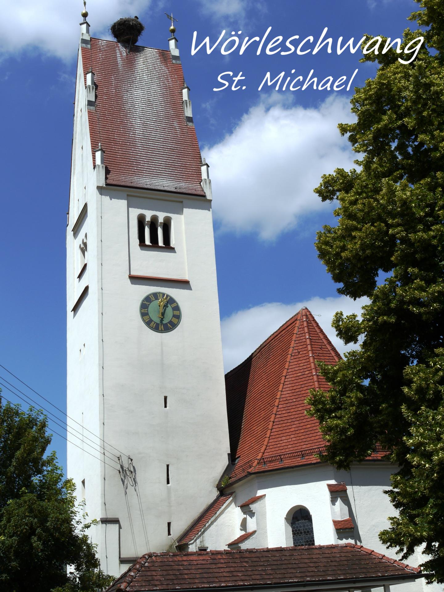 Wörleschwang, Kirchturm St. Michael; Foto: Max Trometer