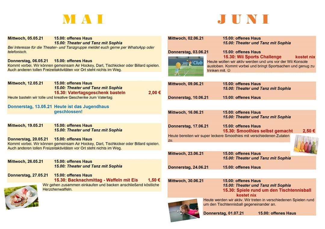 Angebote im Mai und Juni