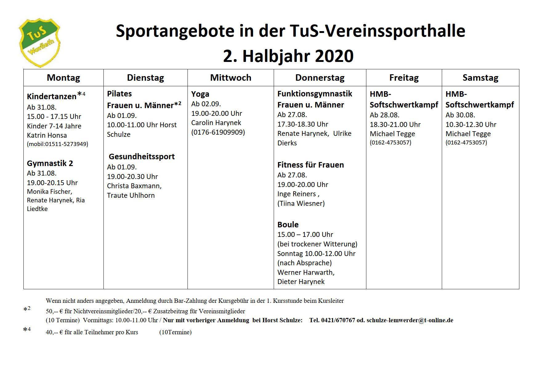 Kursprogramm 2-2020