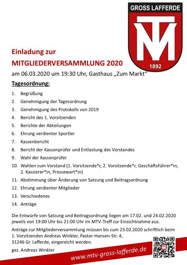 Einladung MV 2020