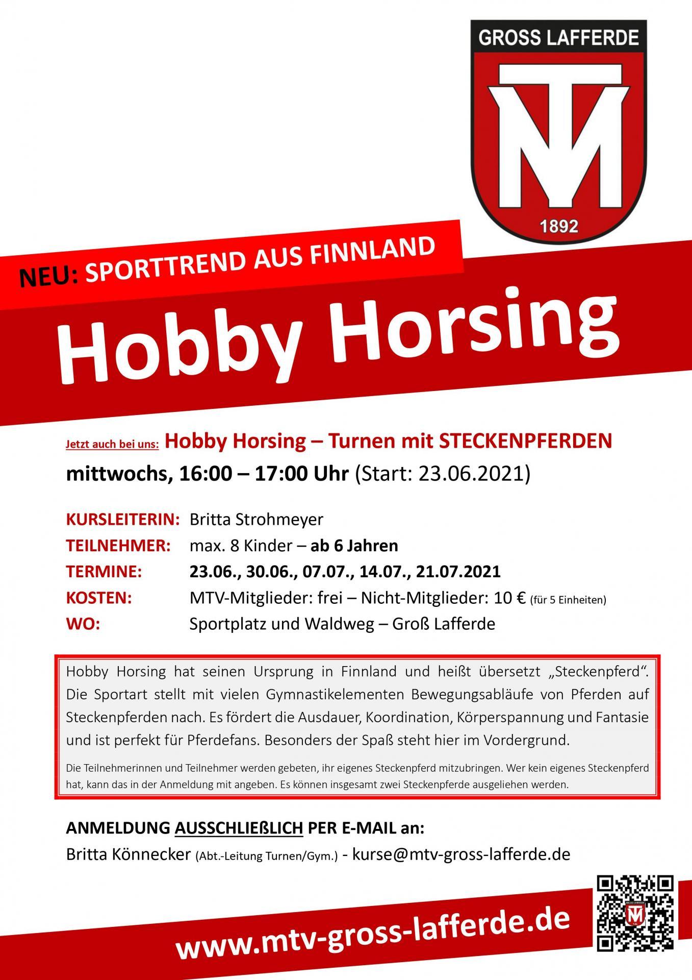 Hobby Horsing (ab Juni 2021)