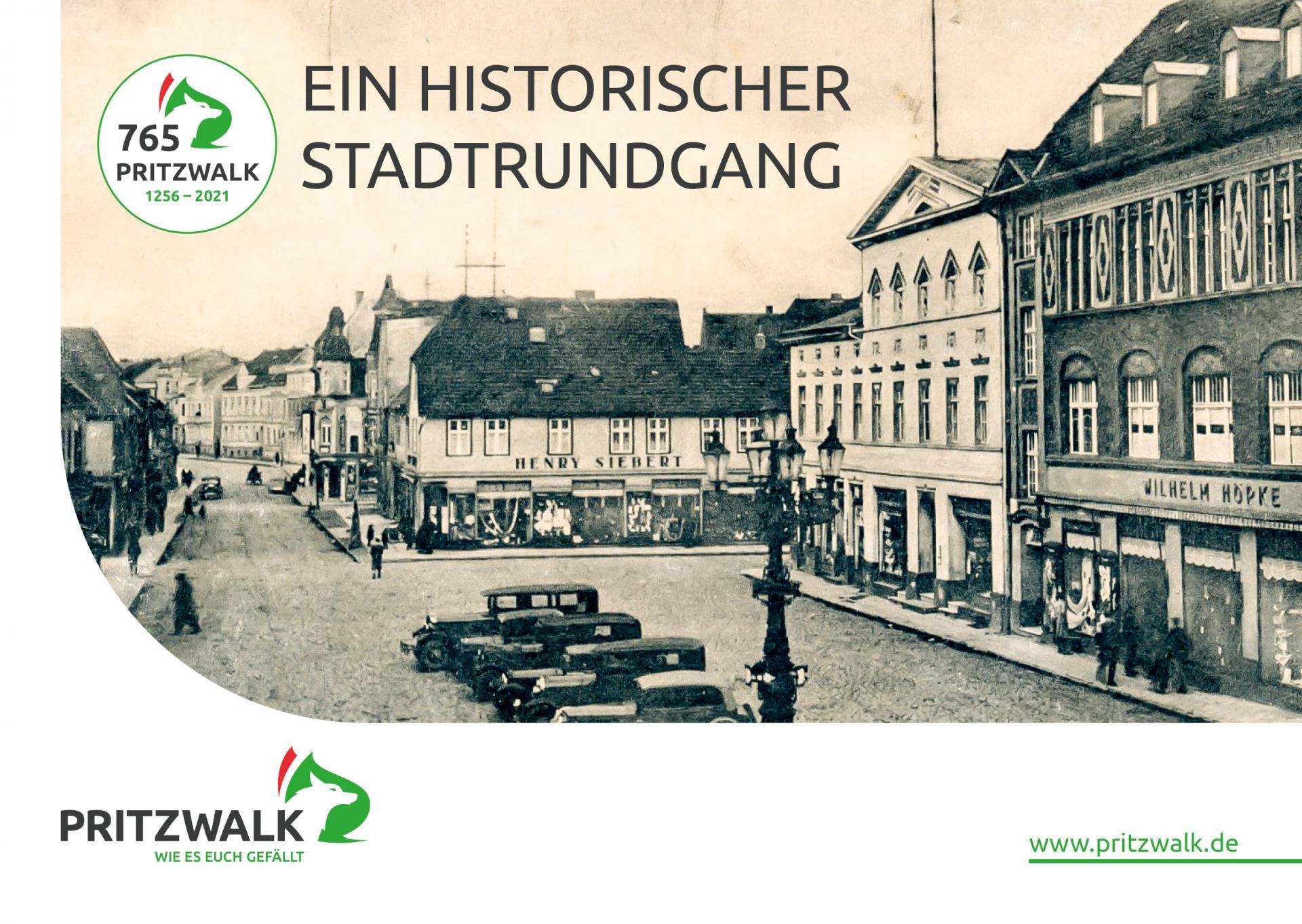 Broschüre Ein historischer Stadtrundgang