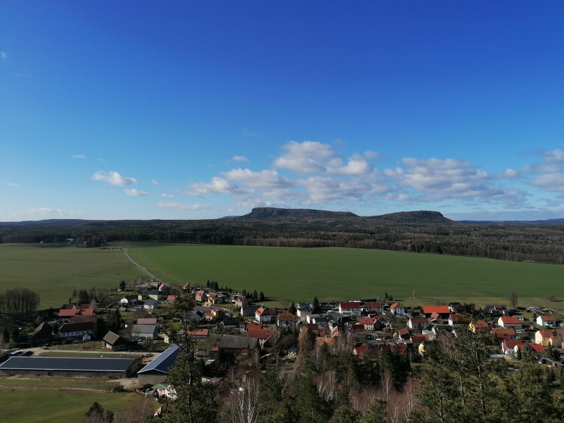 Blick über Reinhardtsdorf-Schöna Foto: Yvonne Bergmann