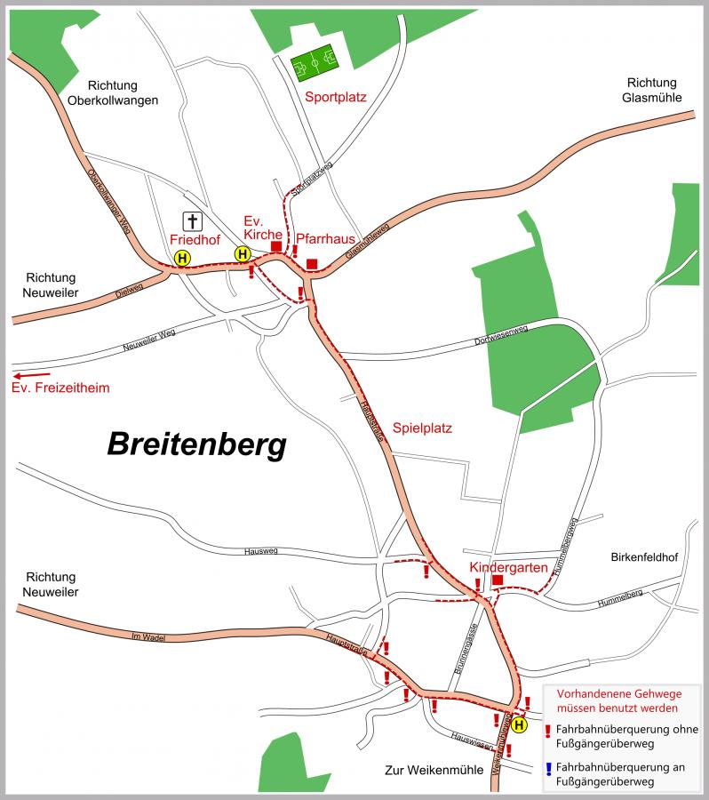 Schulwegeplan Breitenberg