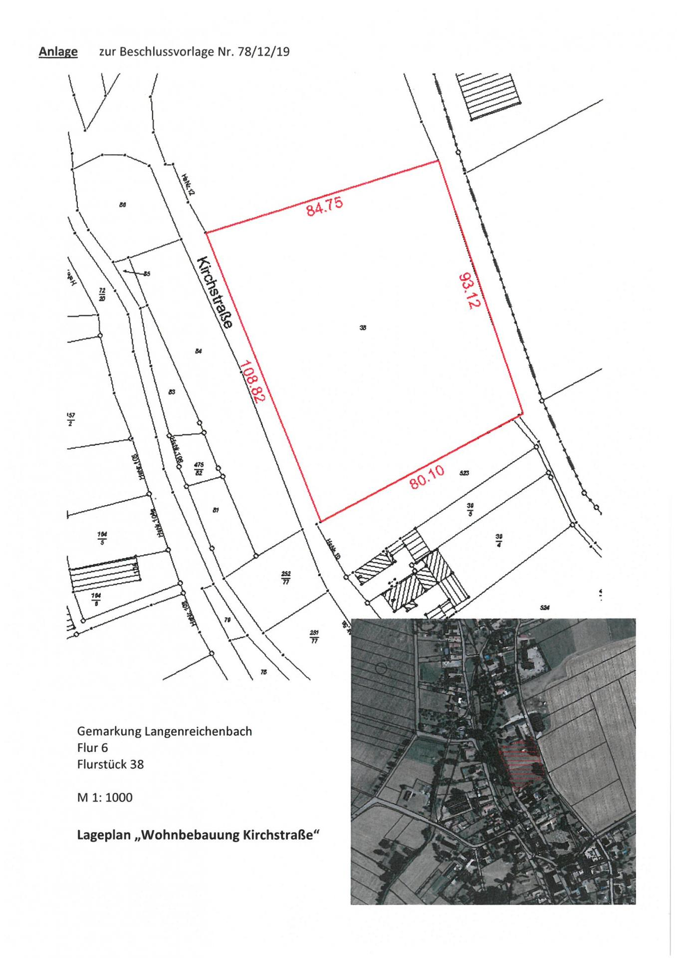 Lageplan Wohnbebauung Kirchstraße